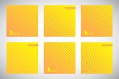 Kolekcja żółci gradientowi geometryczni pasiaści tła royalty ilustracja