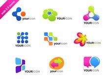 Kolekcja abstrakcjonistyczne ikony i logowie ilustracja wektor