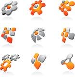 Kolekcja abstrakcjonistyczni logowie/ikony Obraz Stock