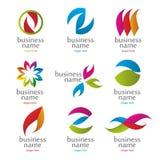 Kolekcja abstraktów barwioni logowie Fotografia Stock