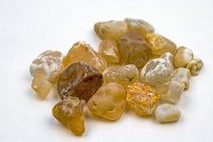 Kolekcja agatów kamienie od plaży Obraz Stock