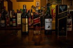 kolekcja alkoholu różny brandy zdjęcia stock