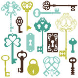 Kolekcja Antykwarscy klucze royalty ilustracja