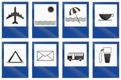 Kolekcja Argentyńscy usługowi drogowi znaki royalty ilustracja