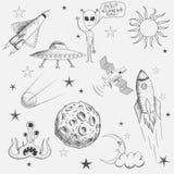 Kolekcja astronautyczni przedmioty ilustracja wektor