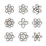 Kolekcja atomowe struktury royalty ilustracja