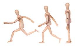 Kolekcja atrapy drewniana ludzka figurka Obraz Stock