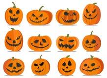 Kolekcja banie z emocjami dla Halloween również zwrócić corel ilustracji wektora Fotografia Royalty Free