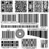 Kolekcja barcode qr kod Obrazy Royalty Free