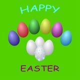 Kolekcja barwioni jajka Zdjęcie Stock