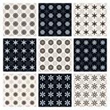 Kolekcja bezszwowi geometryczni wzory Obrazy Royalty Free