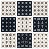 Kolekcja bezszwowi geometryczni wzory Zdjęcia Stock