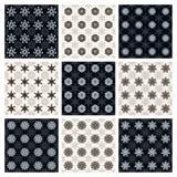 Kolekcja bezszwowi geometryczni wzory Fotografia Royalty Free