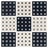 Kolekcja bezszwowi geometryczni wzory Zdjęcie Stock
