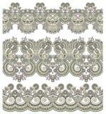 Kolekcja bezszwowi ornamentacyjni kwieciści lampasy Zdjęcie Royalty Free