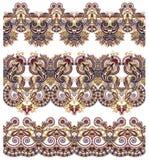 Kolekcja bezszwowi ornamentacyjni kwieciści lampasy Obraz Royalty Free