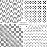 Kolekcja bezszwowi wektorowi wzory ilustracji