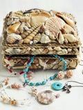 Kolekcja biżuteria w biżuterii pudełku obrazy stock