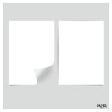 Kolekcja biali papiery, przygotowywająca dla twój wiadomości Wektorowy illus Fotografia Stock