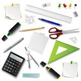 Kolekcja biuro projekta różni elemets dostarcza szablon ilustracji