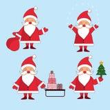 Kolekcja Bożenarodzeniowy Święty Mikołaj Zdjęcie Stock