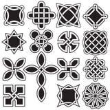 Kolekcja Celtyccy kępka projekty w Wektorowym formacie royalty ilustracja