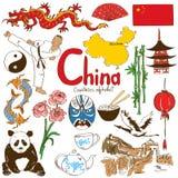 Kolekcja Chińskie ikony ilustracji