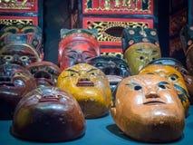 Kolekcja chińskie tradycyjne opery głowy maski fotografia royalty free