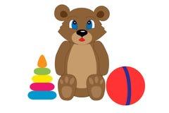 Kolekcja children zabawki Ilustracja Wektor