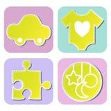 Kolekcja children zabawki Zdjęcia Royalty Free