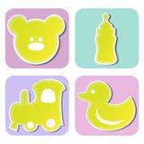Kolekcja children zabawki Obraz Royalty Free