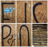 Kolekcja czerepy ulica graffiti Zdjęcia Stock