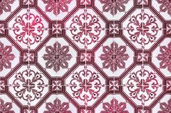 Kolekcja czerwień wzorów płytki Zdjęcie Royalty Free