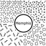 Kolekcja cztery Memphis czarny i biały wzór Fotografia Stock