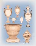 Kolekcja dekoracyjne ceramiczne wazy royalty ilustracja