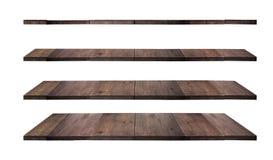 Kolekcja drewniane półki Zdjęcia Stock