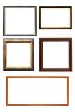 Kolekcja drewniane ramy obraz stock