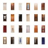 Kolekcja drewniani drzwi obraz royalty free