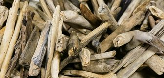 Kolekcja driftwood kije Obraz Royalty Free
