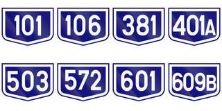 Kolekcja Drogowi markiery dla okręg administracyjny dróg w Rumunia Zdjęcie Stock
