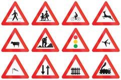 Kolekcja Drogowi znaki Używać w Belgia royalty ilustracja