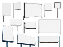 Kolekcja dużo reklamuje sztandaru znaka i billboard Fotografia Royalty Free
