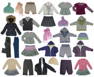 Kolekcja dzieci odziewa Fotografia Stock