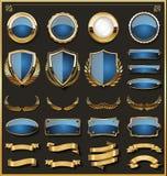 Kolekcja eleganckie odznaki, etykietki i projektujemy elementy royalty ilustracja