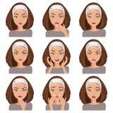 Kolekcja emocje również zwrócić corel ilustracji wektora Obraz Stock