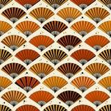 Kolekcja fan, kolorowy bezszwowy wzór ilustracji