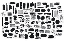 Kolekcja farby muśnięcia markiera atrament podsyca tekstury royalty ilustracja