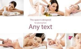 Kolekcja fotografie z kobietami ma różnych typ massag zdjęcia stock