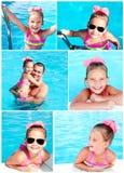 Kolekcja fotografii śliczna uśmiechnięta mała dziewczynka Zdjęcie Stock
