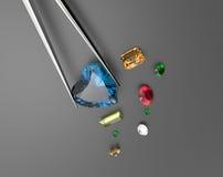 Kolekcja gemstones ilustracja 3 d Zdjęcie Royalty Free